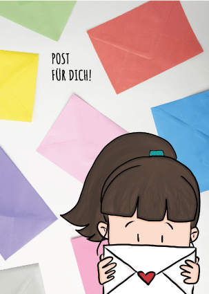 "Postkarte ""Post für dich"""